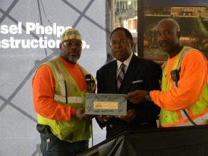 Supervisor Mark Ridley-Thomas at Hensel Phelps Award Presentation
