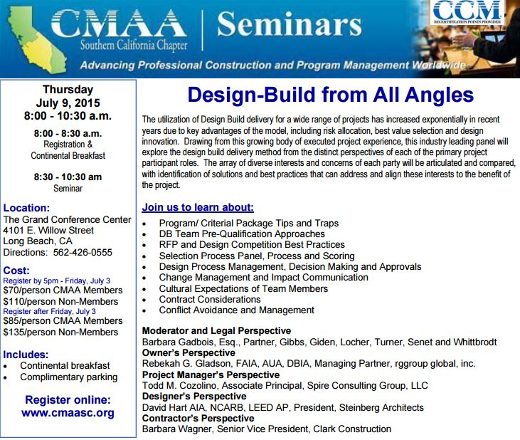 CMAA Design-Build from All Angles